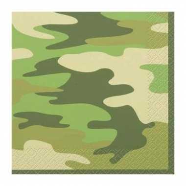 16 stuks legerprint servetten