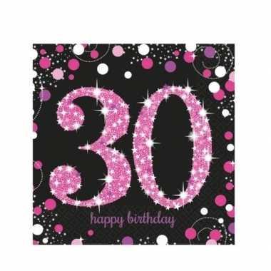 16x servetten 30 jaar geworden kopen