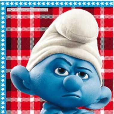20 stuks Smurf servetjes kopen