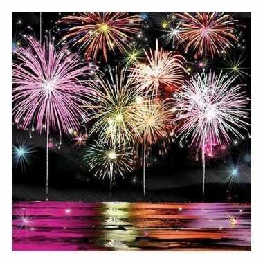 20x feest servetten nieuwjaars thema 33 x 33 cm kopen