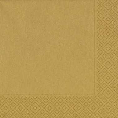 20x gouden kerst servetjes 33 x 33 cm versiering/decoratie kopen