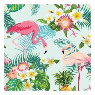 20x papieren servetjes tropische vogel print 33 x 33 cm