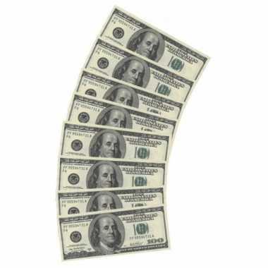 20x papieren servetten amerikaanse dollars kopen