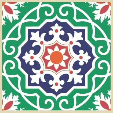 20x tegelmotief servetten groen 33 x 33 cm kopen