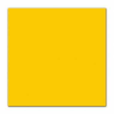 25x gele servetjes 33 x 33 cm versiering/decoratie kopen