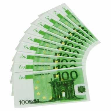 30x papieren servetten honderd euro biljetten kopen