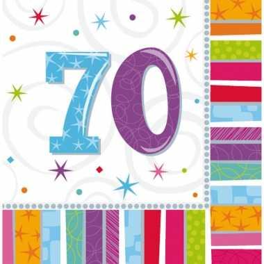 32x 70 jaar themafeest servetten kopen