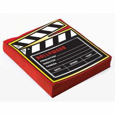 40x film thema feest servetjes 33 x 33 cm print filmbord kopen