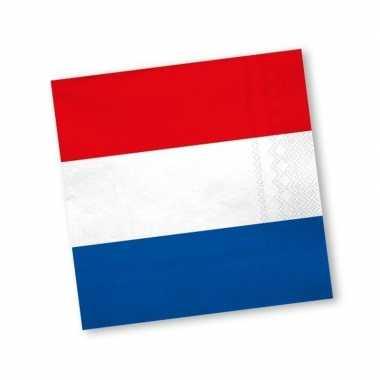 40x holland rood wit blauw servetten kopen