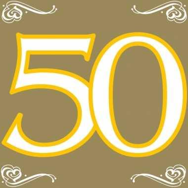40x papieren servetjes 50 jaar thema feestartikelen 33 x 33 cm kopen