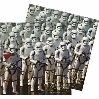 40x papieren servetjes star wars thema feestartikelen 33 x 33 cm kope