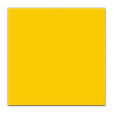 50x gele servetjes 33 x 33 cm versiering/decoratie kopen