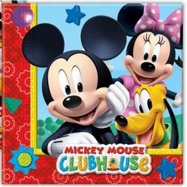 60x papieren servetjes mickey mouse thema feestartikelen 33 x 33 cm k