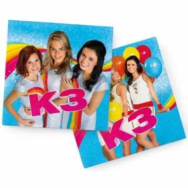 60x papieren servetjes prinsessen blauw thema feestartikelen 33 x 33