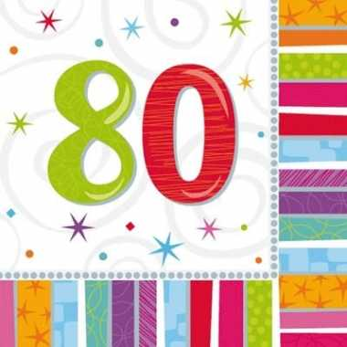 80 jaar feest servetten