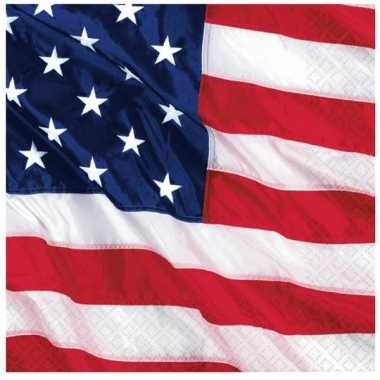 Amerika servetjes 16 stuks kopen
