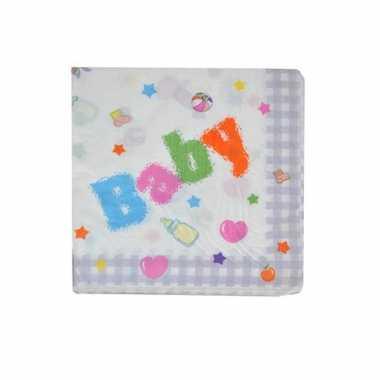 Baby feest servetten 16 cm kopen