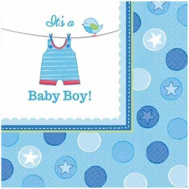 Babyshower servetten its a baby boy kopen