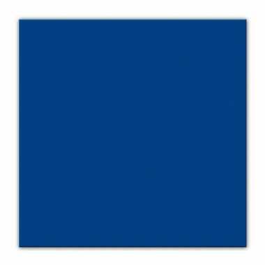 BBQ servetten donkerblauwe kleur  25 stuks kopen