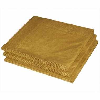 Bbq servetten gouden kleur 40x stuks kopen