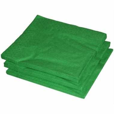 Bbq servetten groene kleur 25 stuks kopen