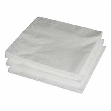 Bbq servetten wit 150x stuks kopen