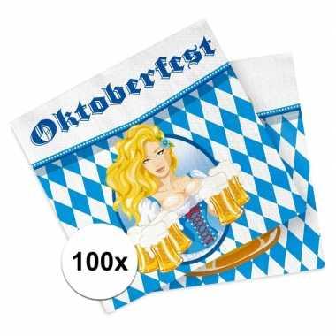 Beieren thema servetten 100 stuks kopen