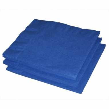 Blauwe servetten 20 stuks kopen