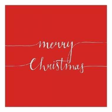 Feest servetten merry christmas rood kopen