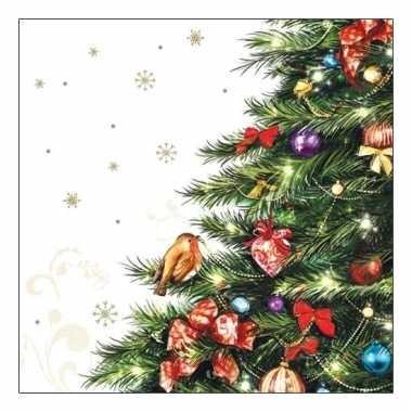 Feest servetten met kerstboom kopen