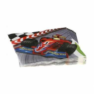 Formule 1 serie servetten 20 stuks kopen