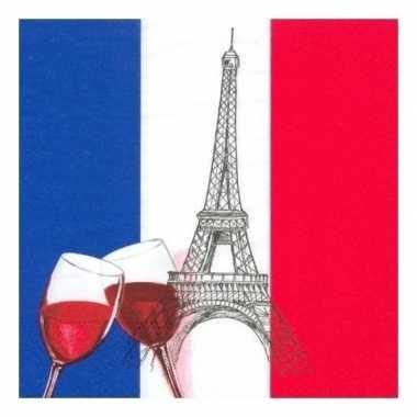 Frankrijk decoratie servetten 100 st kopen