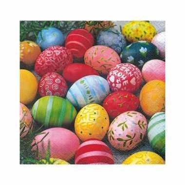 Gekleurde eieren servet  20 stuks kopen