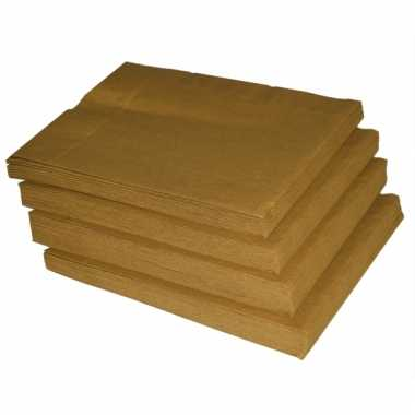 Gouden servetten 50 stuks kopen