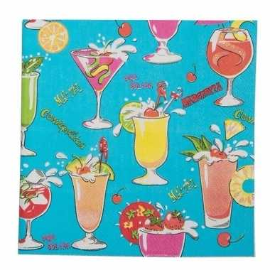 Hawaii servetten cocktail 20 stuks