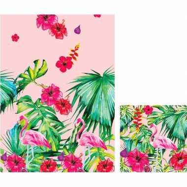 Hawaii thema feest servetjes en tafelkleed kopen