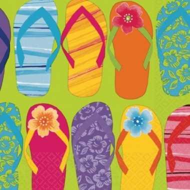 Hawaii zomer servetten 16 stuks kopen