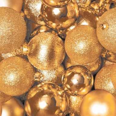 Kerst servetten gouden kerstballen kopen