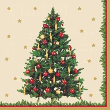 Kerst servetten kerstboom thema kopen