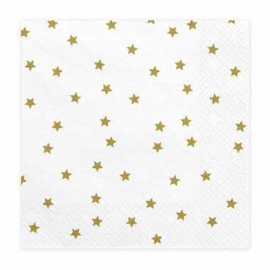 Kerst servetten met sterretjes 20 stuks 33 cm kopen