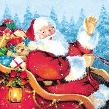 Kerst tafereel servetten 33 x 33 cm kopen