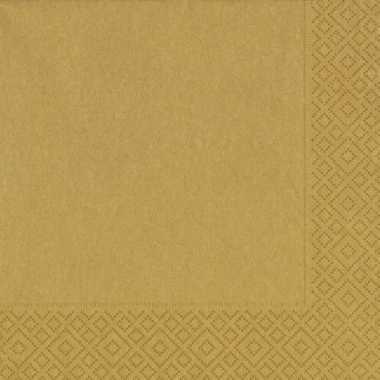 Kerst thema gouden servetten 33 x 33 cm kopen