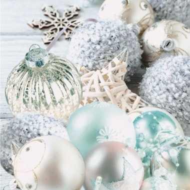 Kerstballen tafereel servetten 33 x 33 cm kopen