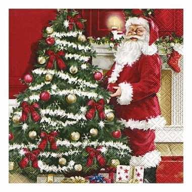 Kerstman servetten 20 stuks kopen