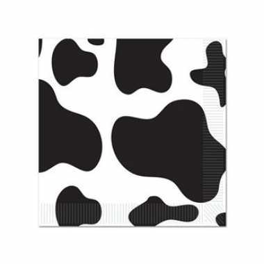 Koeienprint servetten 16 stuks kopen