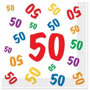 Leeftijd servetten 50 jaar 16 stuks kopen