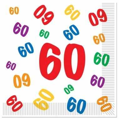 Leeftijd servetten 60 jaar 16 stuks kopen