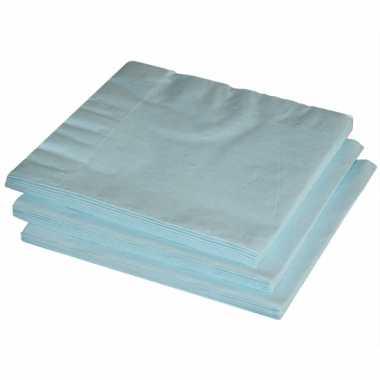 Lichtblauwe servetten 20 stuks kopen