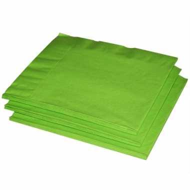 Limegroene servetten 40 stuks kopen