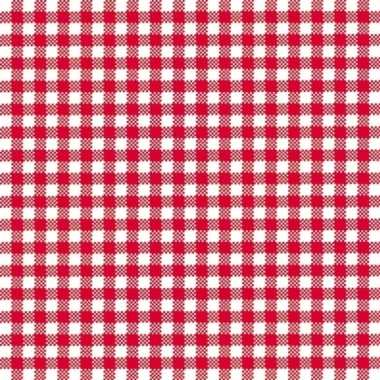 Lunchservetten met een ruit print rood/wit 3-laags 20 stuks kopen